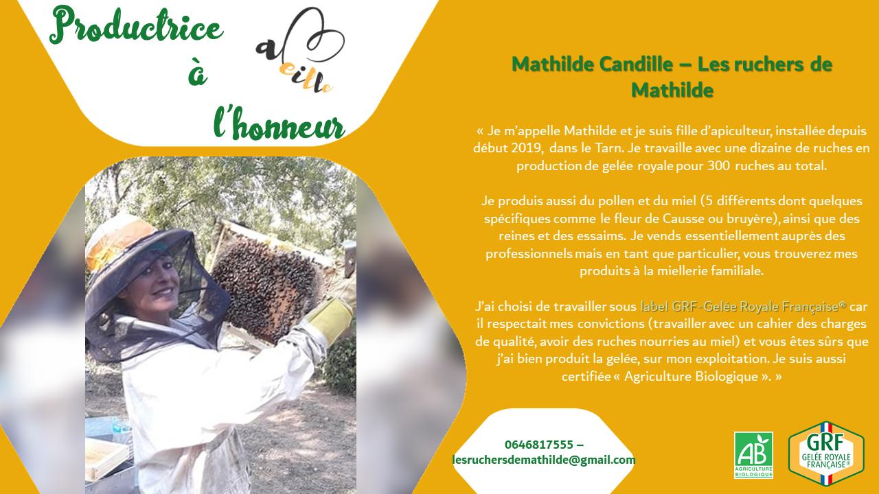 Mathilde Candille : productrice à l'honneur – Mai 2020