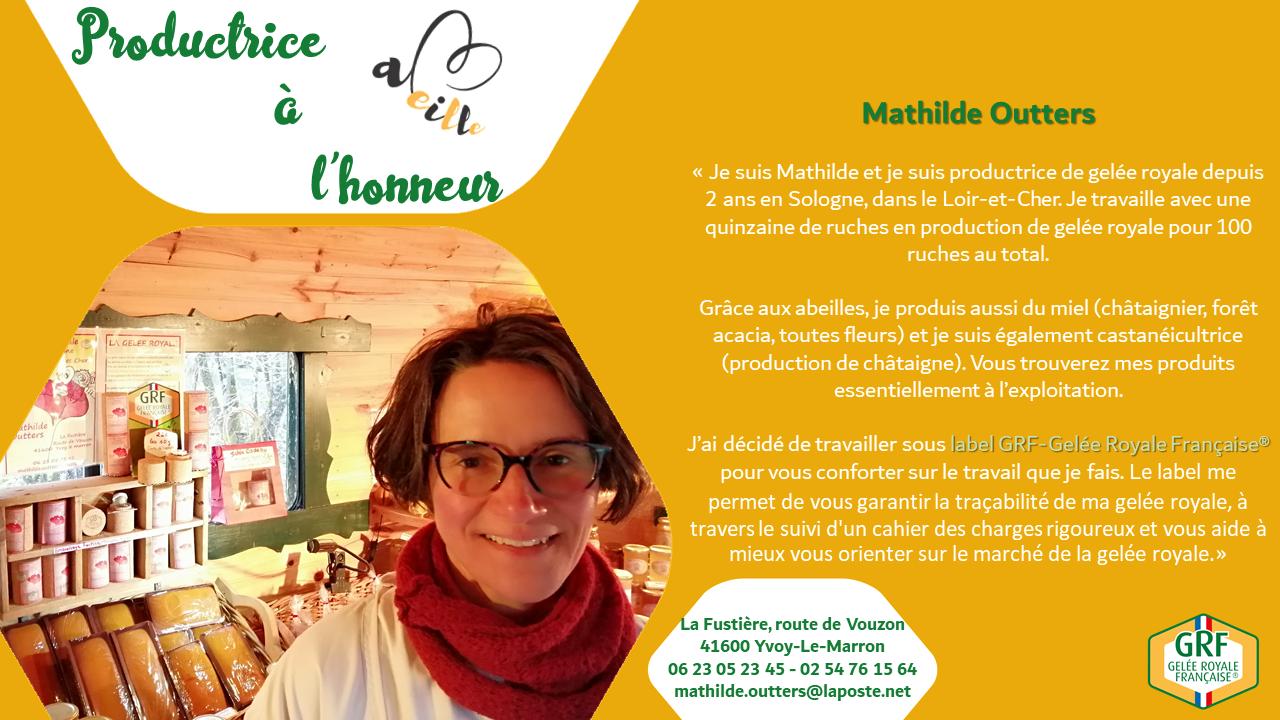 Mathilde Outters : productrice à l'honneur – Juin 2020