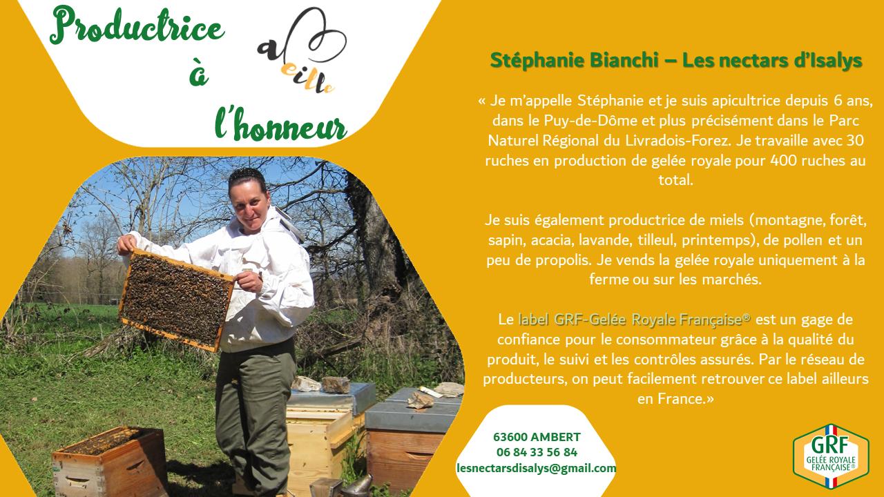 Stéphanie Bianchi : productrice à l'honneur – Août 2020
