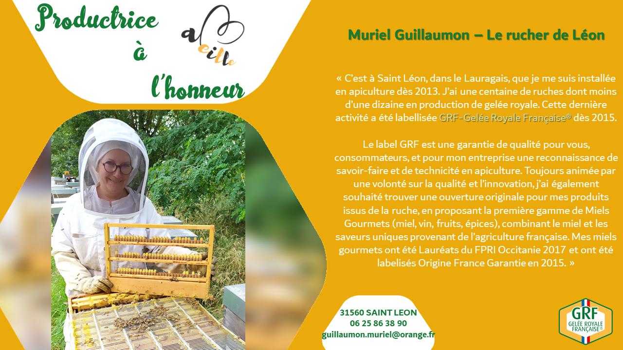 Muriel Guillaumon : productrice à l'honneur – Novembre 2020