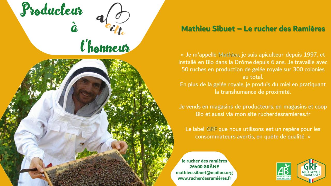 Mathieu Sibuet – Le Rucher des Ramières : producteur à l'honneur – Janvier 2021
