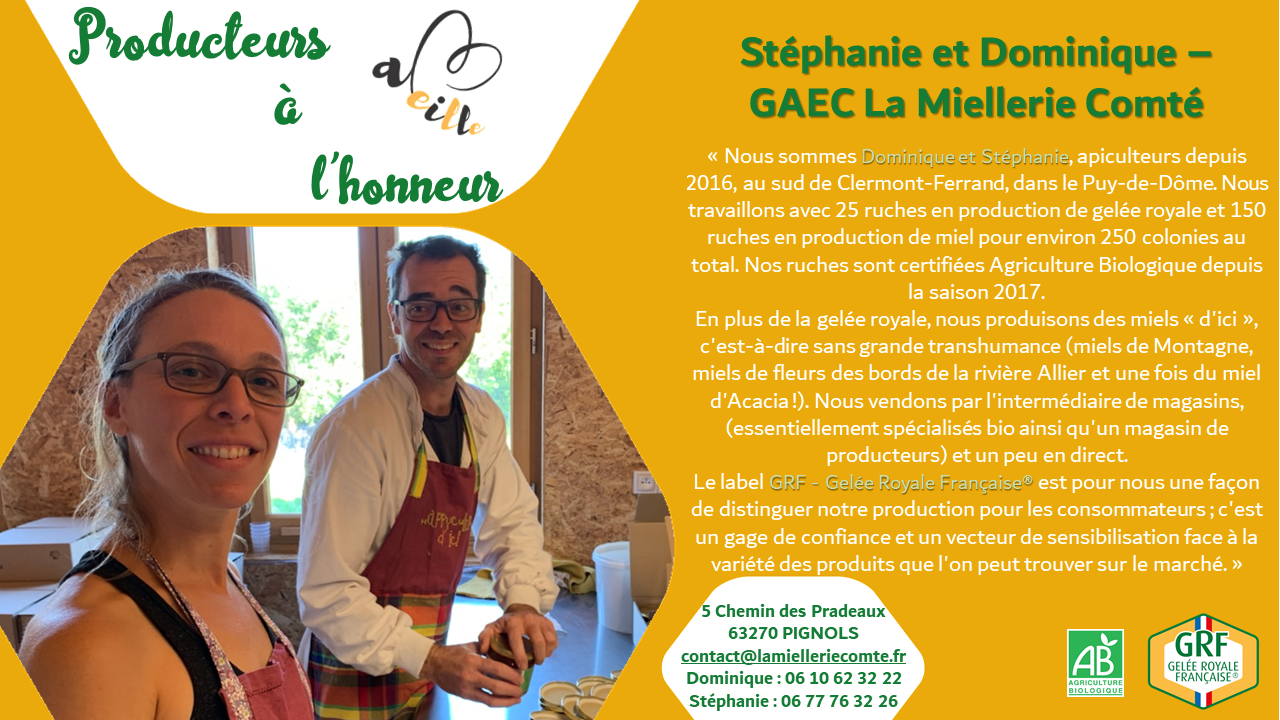 Dominique et Stéphanie – La Miellerie Comté : producteurs à l'honneur – Février 2021